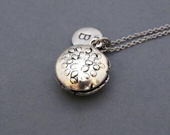 Hamburger necklace, Burger 3D charm, Hamburger charm, burger necklace, antique silver, initial necklace, personalized, monogram