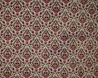 Damask Fabric- Intricate Damask Cotton Fabric by Buttercream Premium Fabric