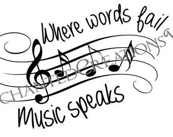 SVG file -Where words fail, music speaks