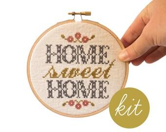 Home Sweet Home, Foyer, Modern Cross Stitch Kit