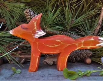 Fox Wood Carved Fox