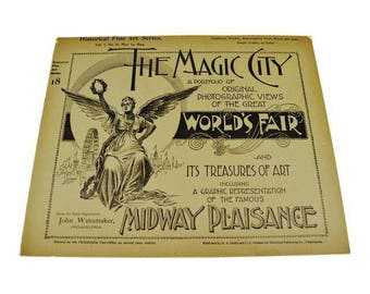 1894 Chicago Worlds Fair Magic City Illustrated Photo View Books - Group of 19