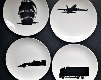 F1, Formula1, manpresent, boys, man, gift, present, gift, present, plate, Dish, BNW, blackandwhite, black-white, plate, plate, tableware