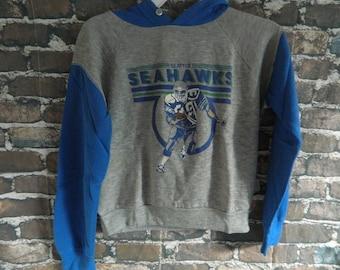 Vtg Seattle Seahawks Youth 10-12 Hoodie Sweatshirt