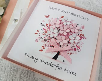 Personalised Birthday Card Handmade  Mother 18th 20th 21st 30th 40th 50th 60th 70th 80th 90th Grandmother Wife Sister Aunt Daughter Friend