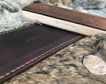 Vegetable Tanned Leather Sharpening Paddle Strop