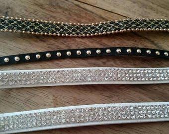 set of 4 Brown to make bracelets