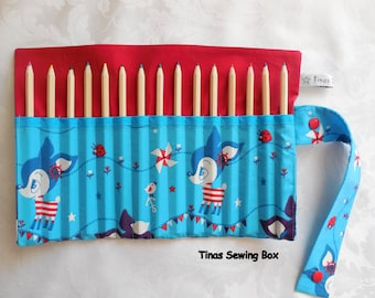 pencil roll with little fawns
