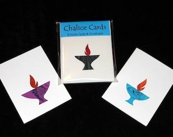 Flaming Chalice Note Cards
