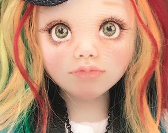 Rainbow Doll - 40cm face painted BJCD