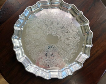 Reed & Barton Silverplate Chippendale Serving Tray