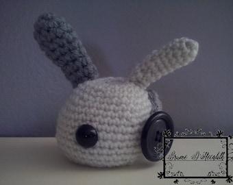 Amigurumi Bunny grey and white