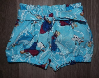 Disney Frozen Anna & Elsa Inspired high waisted shorts.