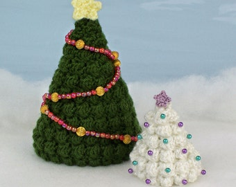 PDF Christmas Trees CROCHET PATTERN (2 sizes and star included)