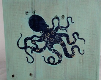 Tentacled Octopus Wall Sign