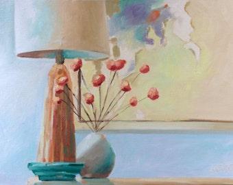 Still Life Painting • Table Lamp • Lamp #1 • Original Art • Oil Paintings • Daily Painters • Daily Painting