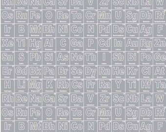 Periodic table quilt etsy science periodic table grey fabric riley blake gray c4550 grey white science fabric urtaz Gallery