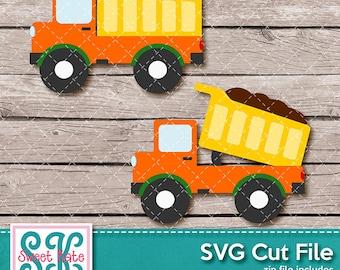Dump Truck SVG dxf EPS png JPG htv Heat Transfer Vinyl Toys Children Cricut Explore Silhouette Cameo Die Cut Sweet Kate Designs