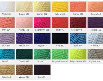 Pato Value Dk, 100g ball - various colours available, double knit yarn, pato yarn.