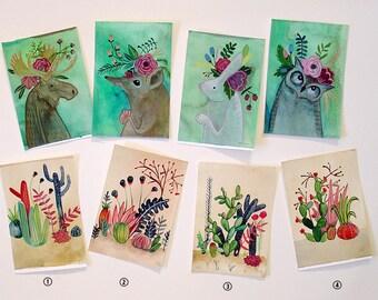 Little Cactus - ORIGINAL watercolor