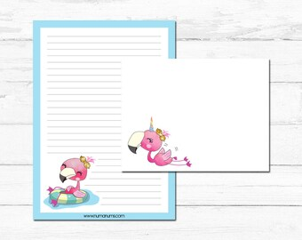 Stationery Set - flamingo fun - letter writing