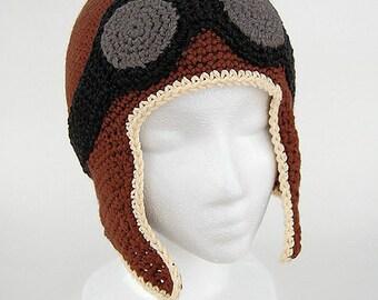 Crochet Pattern, Winter Hat Pattern, Crochet Hat Patterns, Kids Hat Pattern, Baby Aviator Hat