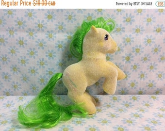 SUMMER SALE 1980s My Little Pony Magic Star mlp g1 80s Kids Toys Collectible Flocked So Soft