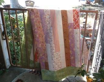 Unfinished jelly roll race quilt top unfinished quilt top
