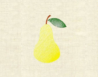 Machine embroidery fruit pear
