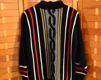 Vintage Sweater Retro Stripes with Class