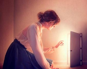 Seeking the Light - Portrait Photography - Fine Art Print - Wall Decor - Whimsical - Alice in Wonderland Style