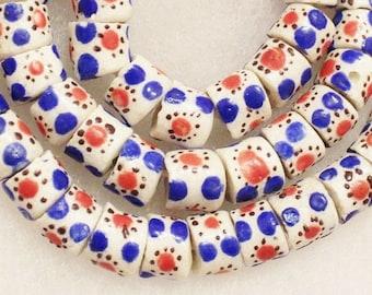 African Recycled Glass Beads (16), Krobo Powder Glass Beads (b32)