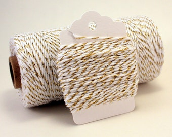 Gold Twine - Gold Bakers Twine - Gold String - Gold Metallic Twine - Sparkly String - Gold Shiny String - Gold Metallic Divine Twine - 4-ply