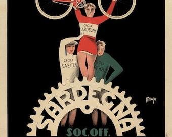 Sardegna Bicycle Poster (#808) 6 sizes