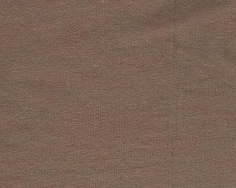 Mocha - 10oz cotton/lycra knit fabric - 95/5 cotton/spandex jersey knit - By The Yard