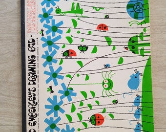Vintage Ed Emberleys Drawing Pad 1974  Learn to Draw Writing Tablet