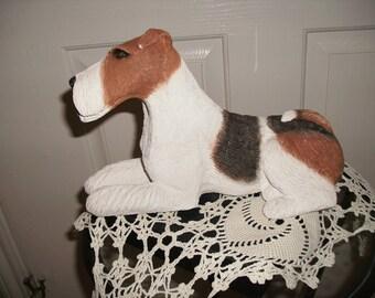 Sandra Brue's Wire Fox Terrier Dog Figurine