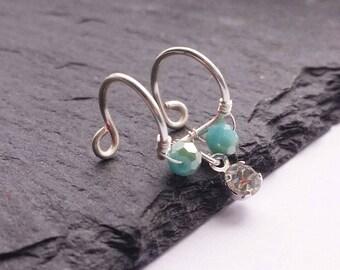 12mm Double Lip Ring  - Faux Lip Ring - Lip Piercing  - Clip On Lip Ring - Fake Lip Piercing - No Piercing Jewelry - Lip Jewelry