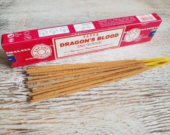 Satya Dragons blood incense sticks.