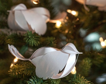 Template for Paper Bird Ornament