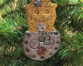 Industrial Style Snowman Ornament -  Winter Time Christmas Decoration Home Decor style 4