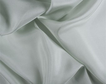Sage Silk Habotai, Fabric By The Yard