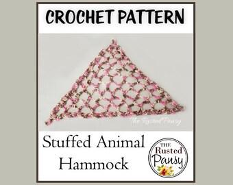 PATTERN - Stuffed Animal Hammock Crochet PATTERN, Instant Download