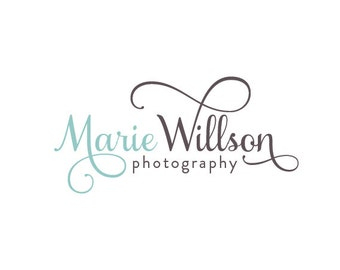 Photography Logo and Watermark, Calligraphy Script Font with Swirls Logo Design 230
