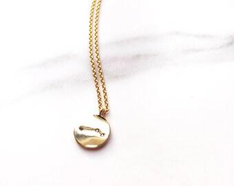 Small 'Aries' Zodiac Charm Necklace