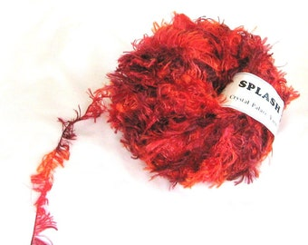 Splash 7179, Crystal Palace yarn, novelty yarn, red, orange, wine, destash