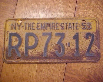 1955-56 NY New York State Commercial Truck Antique License Plate #RP73-12 & 1955 license plates | Etsy