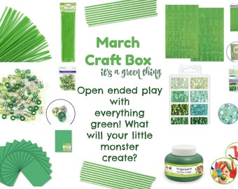 March Toddler Preschool Craft and Art Supply Box