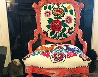 Pink Suzani Chair