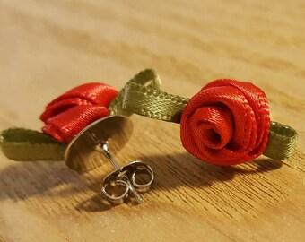 Rosette Stud Earrings